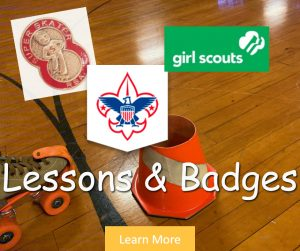 Skating Lessons and Merit Badges